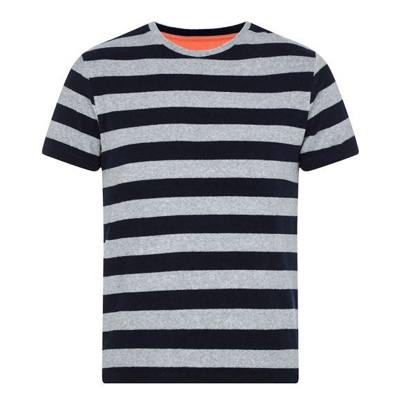 Green Grey shirt striped towelling t Racing dw5v081xqd