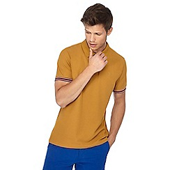 Racing Green - Big and tall mustard tipped polo shirt