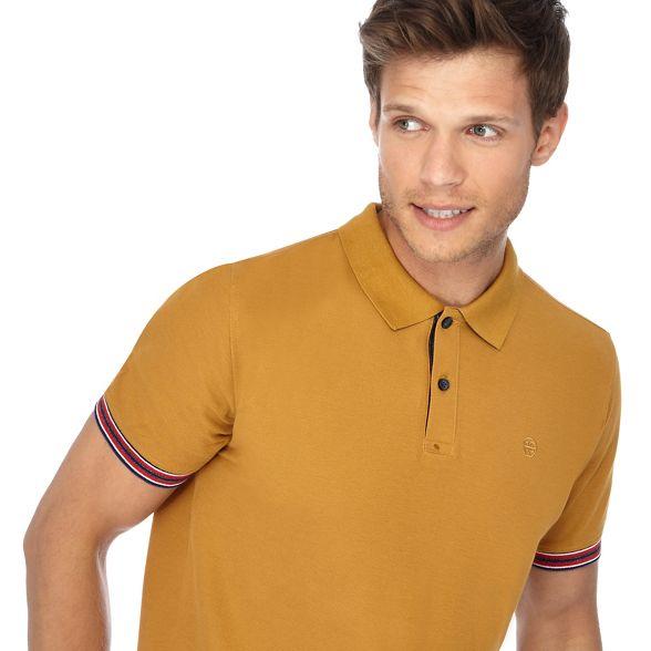 Mustard polo Racing shirt tipped Green 0gqwU
