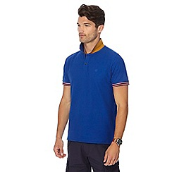 Racing Green - Bright blue tipped polo shirt