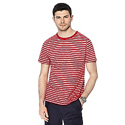 Racing Green - Big and tall red striped t-shirt