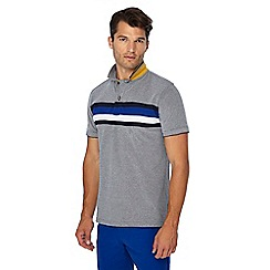 Racing Green - Big and tall navy chest stripe polo shirt