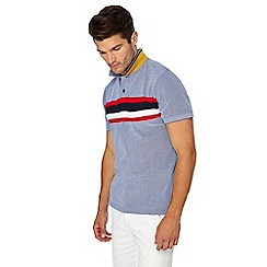 Racing Green - Blue chest stripe polo shirt