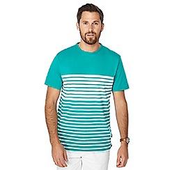 Racing Green - Lovat stripe print t-shirt