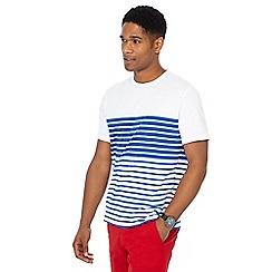 Racing Green - White stripe print t-shirt