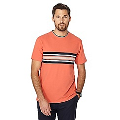 Racing Green - Big and tall orange stripe chest panel t-shirt