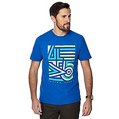 Racing Green - Bright blue abstract print t-shirt