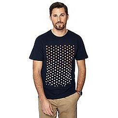 Racing Green - Navy spotted print t-shirt