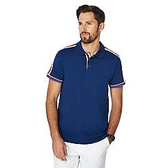 Racing Green - Dark blue striped tape polo shirt