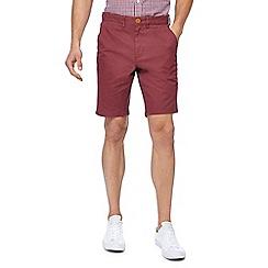 Racing Green - Red chino shorts