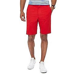 Racing Green - Bright red chino shorts