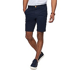 Racing Green - Big and tall navy chino shorts