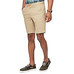 Racing Green - Light tan chino shorts