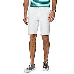 Racing Green - White chino shorts