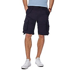 Racing Green - Navy regular fit cargo shorts
