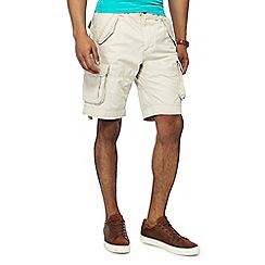 Racing Green - Big and tall natural regular fit cargo shorts