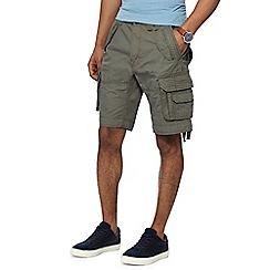 Racing Green - Khaki regular fit cargo shorts