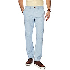 Racing Green - Big and tall light blue straight fit chinos