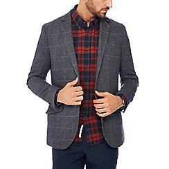 Racing Green - Big and tall grey 'Raker' blazer with wool