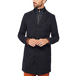 Racing Green - Big and tall navy moleskin coat