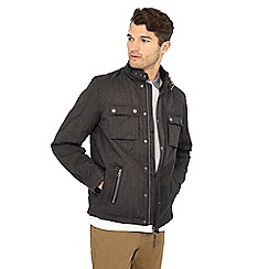 Racing Green - Big and tall grey quilted jacket