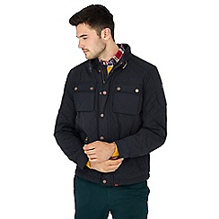 Racing Green - Navy quilted jacket