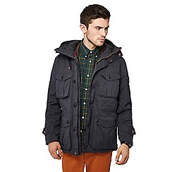 Racing Green - Big and tall navy 3-in-1 coat