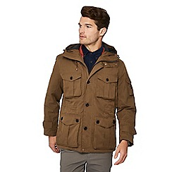 Racing Green - Big and tall tan 3-in-1 coat