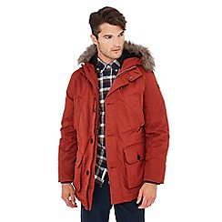 Racing Green - Big and tall orange down filled parka
