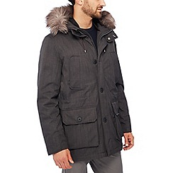 Racing Green - Big and tall grey down filled parka
