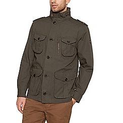 Racing Green - Big and tall khaki four pocket cotton jacket