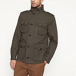 Racing Green - Khaki four pocket cotton jacket