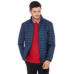 Racing Green - Big and tall navy padded jacket