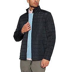 Racing Green - Big and tall navy quilted jacket