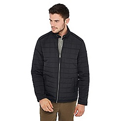 Racing Green - Big and tall black quilted jacket