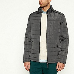 Racing Green - Dark Grey Quilted Jacket