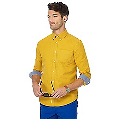 Racing Green - Yellow tailored fit Oxford shirt