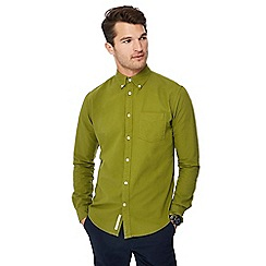 Racing Green - Big and tall green long sleeve regular fit Oxford shirt