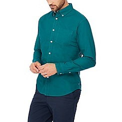 Racing Green - Turquoise long sleeves tailored fit Oxford shirt