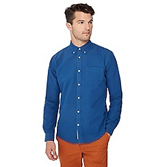 Racing Green - Big and tall bright blue tailored fit oxford shirt