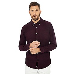 Racing Green - Big and tall plum long sleeve tailored fit oxford shirt