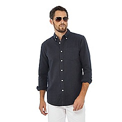 Racing Green - Big and tall grey oxford shirt