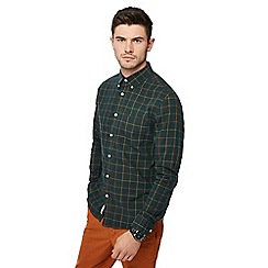 Racing Green - Green windowpane long sleeve tailored fit shirt