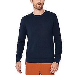Racing Green - Big and tall navy crew neck sweatshirt