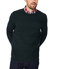 Racing Green - Big and tall green waffle knit jumper