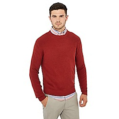 Racing Green - Dark red ribbed jumper