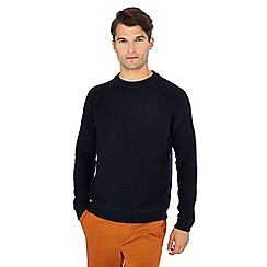 Racing Green - Navy towelling sweater