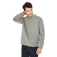 Racing Green - Grey towelling sweater