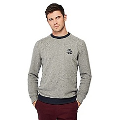 Racing Green - Big and tall grey tipped jumper