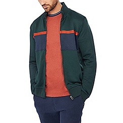 Racing Green - Green colour block track top